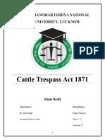 Cattle Trespass Act 1871