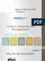 How to Create an Effective Enterprise Risk Management Program?