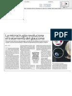 La microcirugía revoluciona el tratamiento del  glaucoma
