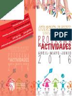 Programación abril, mayo y junio de 2016