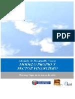 Modelo de Desarrollo Vasco. MODELO PROPIO Y SECTOR FINANCIERO