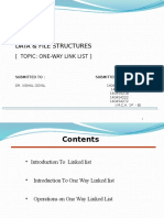 Ppt of Operations on One Way Link List