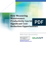 How Measuring Maintenance Productivity Can Identify Significant Cost Reduction Opportunities