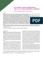Correlation Between SLEDAI,C3,C4 Dan Anti-dsDNA Antibodies