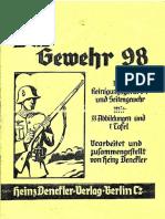 Das Gewehr 98 Mit Reinigungsgerät 34 Und Seitengewehr