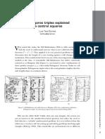 Pythagoras Triples Explained via Central Squares Teia