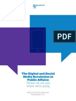 The Digital and Social Media Revolution in Public Affairs