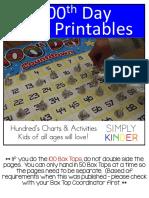 100th Day Free {Simply Kinder} PDF