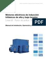 WEG Motor de Induccion Trifasico de Alta y Baja Tension