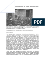 Soviets and Factory Committees in the Russian Revolution