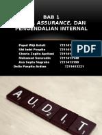 Pde_kelompok 1_audit, Assurance, Dan Pengendalian Internal