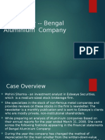 Bengal Aluminium Company Case Study