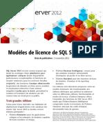 SQL2012 Licensing Datasheet FR (1)