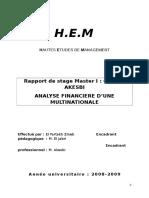 538 ANALYSE FINANCIERE D'UNE MULTINATIONALE