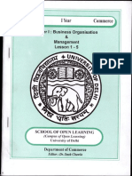 Paper-1 (Business Organisation & Management-2)