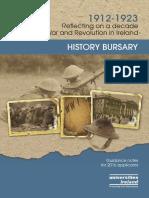 History Bursary 2016 Ireland