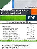 Metabolisme Karbohidrat, Protein Dan Lemak