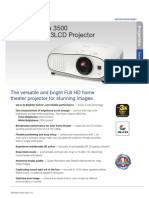 Home Cinema 3500 Product Specifications