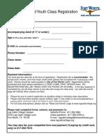 Registration Form--Log Cabin Village Classes and Camps