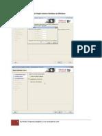 11GR2 Software Installation for Single Instance Database on Windows