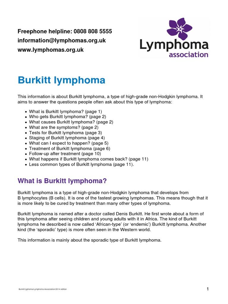Burkitt Lymphoma | Lymphoma | Chemotherapy