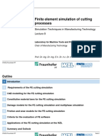 Fe Simulation of Cutting Processes