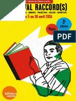 Festival Raccords 2016 - Les éditeurs associés