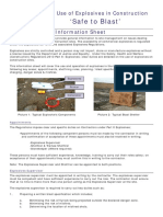 Explosives in Construction Information Sheet