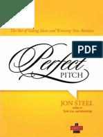 The Perfect Pitch - Jon Steel