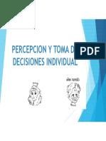 Percepcion y Toma de Decisiones