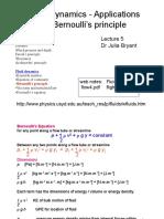 Fluid Dynamics - Applications