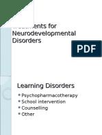 Treatments for Neurodevelopmental Disorders