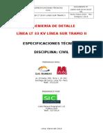 ESPECIFICACION TECNICAS DE CIM. POSTES