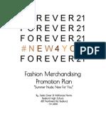 Fashion Merch Promo Plan