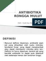 Ppt Antibiotika Rongga Mulut
