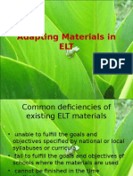 Topic 3 Evaluating and Adapting Materials in ELT