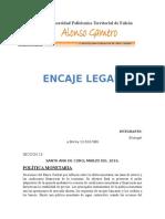 Informe de Encaje Legal
