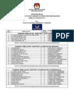 PENGUMUMAN DAFTAR CALON TETAP ANGGOTA DPRD PROVINSI BANTEN PEMILU TAHUN 2014