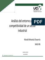 Entorno y La Competitividad de Un Sector Industrial