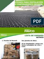 Instalación Neoweb Pavco