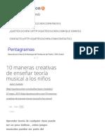 10 Maneras Creativas de Enseñar Teoria Musical a Los Niños
