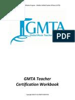 GMTA Teacher Certification Work Book