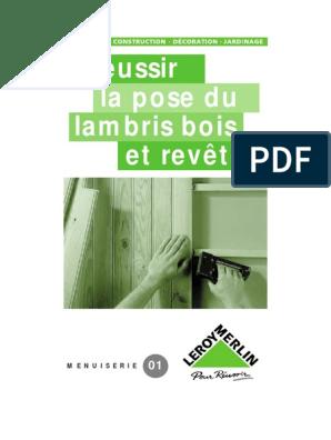 La Pose Du Lambris Bois Et Revêtuspdf