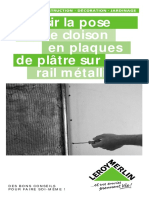 La pose d'une cloison en plaques de plate sur rail métallique.pdf