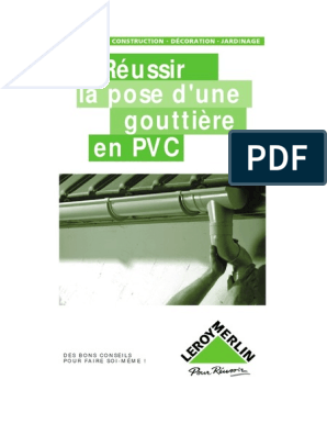 La Pose Dune Gouttière Pvcpdf Bâtiment Construction