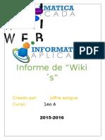 INFORME DE WIKIS