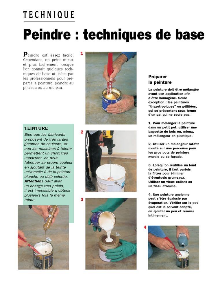Peindre Techniques De Base Pdf Dyeing Paint