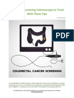 Keep Your Screening Colonoscopy on Track With These Tips