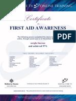 SB Certificate FA