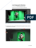 Removing a Green Screen Background in Photoshop